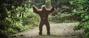 Bigfoot Making His Way To The David Letterman Show On His Tiny-Ass Feet