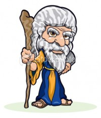 Moses With Blue Prints For New Ark