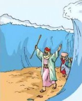 An UnPursued Moses Parts The Red Sea