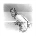 Jesus As Cubs Pitcher