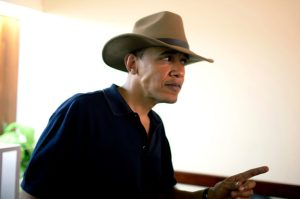 President Obama In His Iconic Fedora