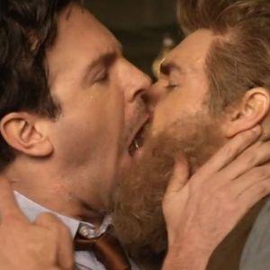 Ken Ham & William Lane Craig Share Their First Kiss In: Another Brokeback Mountain