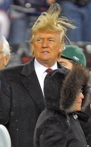 Whenever Donald Trump tried to speak in public, I'd Force lift his hair so it stood on end until he shut up.