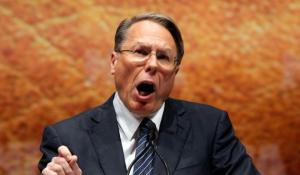 """I can hold 40 guns in my gigantic mouth,"" says Wayne LaPierre"