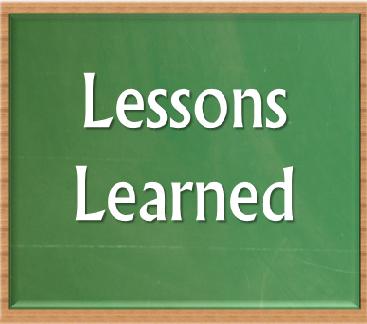 Lessons I've Learned...